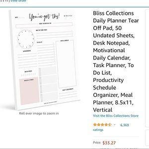 """Bliss Collections Daily Planner """"You Got This!"""""""